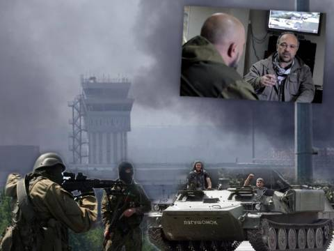 Σφοδρές μάχες γύρω από το αεροδρόμιο του Ντονιέτσκ, που φλέγεται