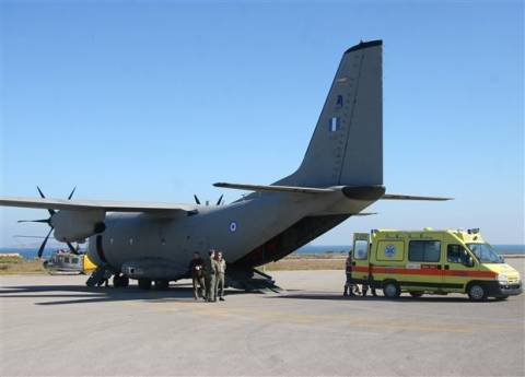 Αερομεταφορά εγκύου από την Σαντορίνη στην Κρήτη