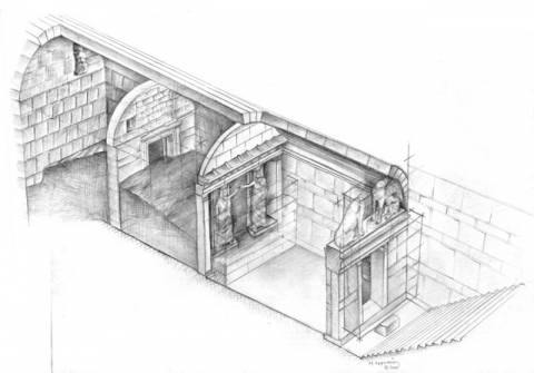Ancient Amphipolis door discovery points to Macedonian-era tomb, excavator