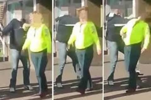 Γυναίκες μετέτρεψαν το πεζοδρόμιο σε... ρινγκ (βίντεο)