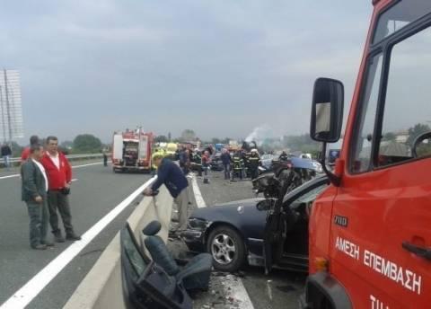 Καραμπόλα στην Εγνατία: Απανθρακώθηκε οδηγός