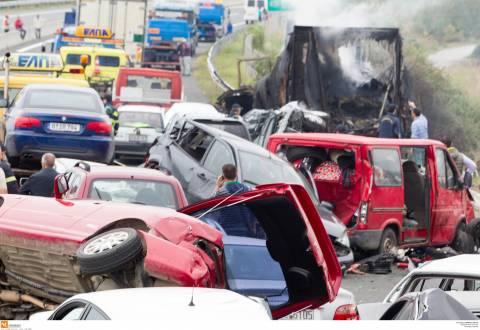 Καραμπόλα στην Εγνατία: Νέες φωτογραφίες από το δυστύχημα