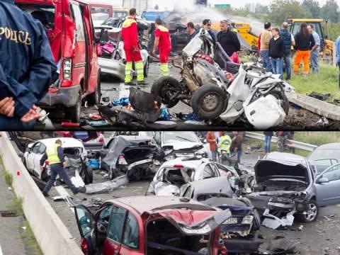 Φονική καραμπόλα με νεκρούς και τραυματίες στην Εγνατία Οδό
