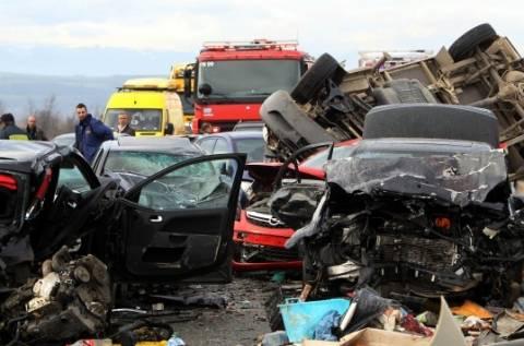 Καραμπόλα στην Εγνατία: Στον εισαγγελέα οδηγείται ο οδηγός της νταλίκας