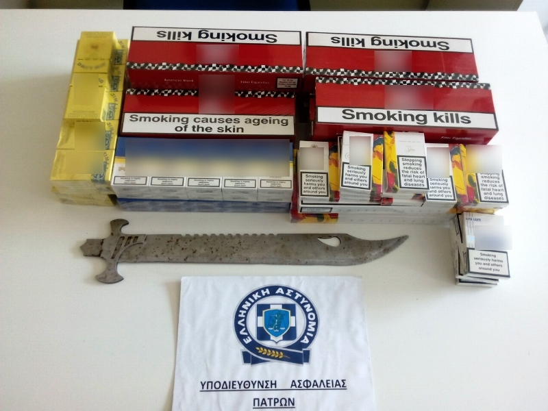 Αχαΐα: Συνελήφθησαν δύο Ρομά για λαθραία τσιγάρα και οπλοκατοχή (pics)