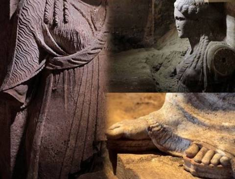 The Caryatids indicate Hephaestion