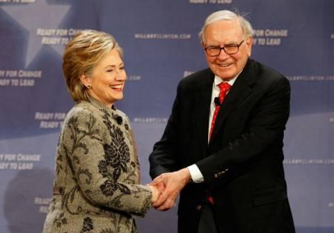Γουόρεν Μπάφετ: Η Χίλαρι Κλίντον θα είναι υποψήφια για την προεδρία και θα κερδίσει