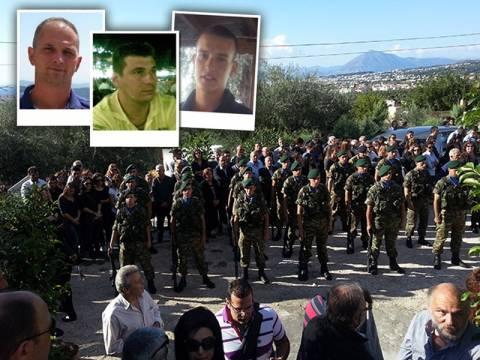 «Ράγισαν» καρδιές στις κηδείες των τριών οπλιτών