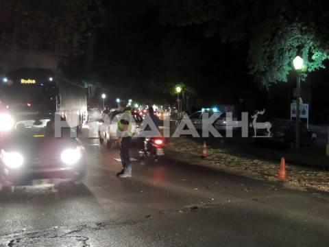 Ρόδος: «Πατινάζ» έκαναν τα δίκυκλα εξαιτίας λαδιών στο οδόστρωμα