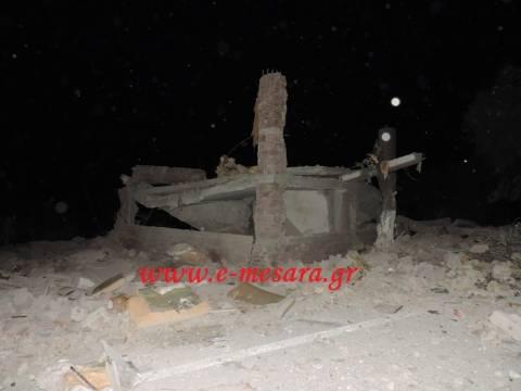 Κρήτη: Εικόνες καταστροφής λίγο μετά την έκρηξη