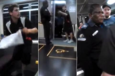 Ρατσιστικό παραλήρημα: Επιβάτης επιτίθεται σε ελεγκτή (βίντεο)