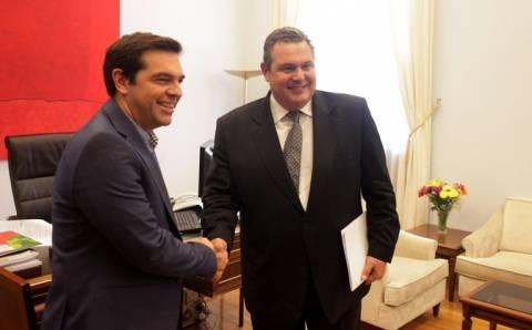 Τσίπρας μετά την συνάντηση με Καμμένο: Υπάρχουν πολλά κοινά σημεία και πτυχές