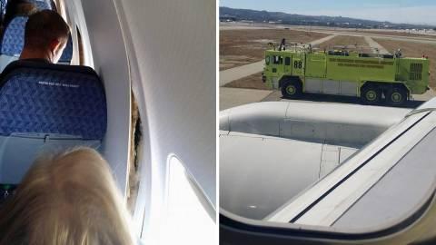 Αναγκαστική προσγείωση λόγω... ρωγμών στο αεροπλάνο (pic+video)