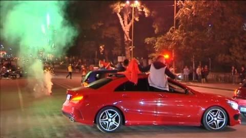 Σοβαρά επεισόδια και στο Αργυρόκαστρο μετά το Σερβία-Αλβανία