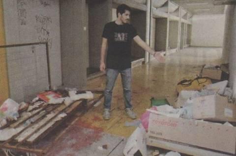 Φιλοσοφική Αθηνών: Εικόνες καταστροφής στο ΕΚΠΑ – Σκουπίδια παντού (pics)