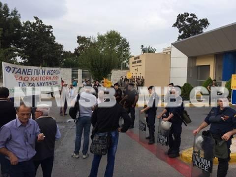 Ολοκληρώθηκε η συγκέντρωση διαμαρτυρίας στο υπ. Εθνικής Άμυνας