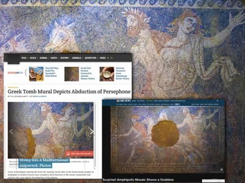 Αμφίπολη: Η Περσεφόνη μάγεψε τα διεθνή ΜΜΕ (pics)