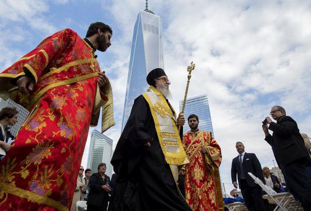 ΗΠΑ: Θεμελιώθηκε ο Ιερός Ναός του Αγίου Νικολάου στο Παγκόσμιο Κέντρο Εμπορίου (pics)