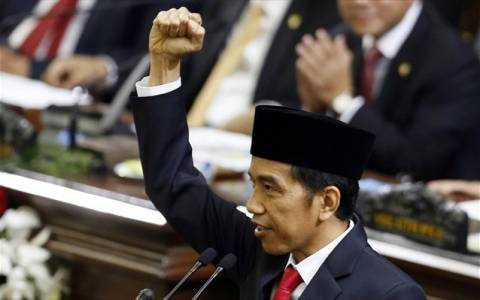 Ορκίστηκε ο νέος πρόεδρος της Ινδονησίας