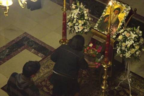 Άρτα: Πλήθος κόσμου προσκύνησε την κάρα του Οσίου Δαβίδ