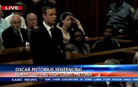 Βίντεο: Η στιγμή που ο Πιστόριους ακούει την ποινή