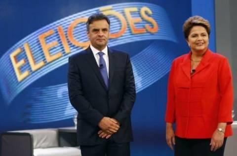 Βραζιλία: Μικρή η διαφορά Ρούσεφ- Νέβες λίγο πριν τον β' γύρο των προεδρικών εκλογών