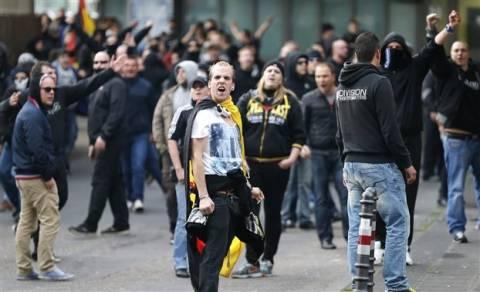 Κολωνία: Διαδηλώσεις χούλιγκαν και ακροδεξιών