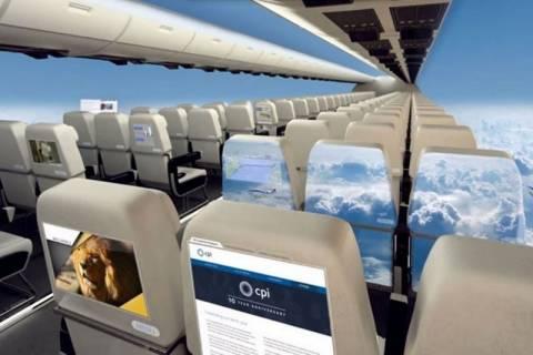 Τα αεροπλάνα σε λίγα χρόνια δεν θα έχουν παράθυρα (vid)