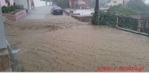 Κρήτη: Καταστροφές από την δυνατή βροχόπτωση στη Μεσσαρά
