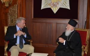 Συνάντηση Πατριάρχη Βαρθολομαίου με τον Δ. Αβραμόπουλο