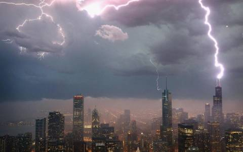 Εντυπωσιακές καταιγίδες πάνω από την Αμερική!