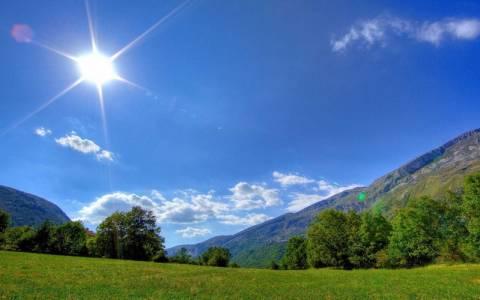 Ηλιοφάνεια στο μεγαλύτερο τμήμα της χώρας με άνοδο της θερμοκρασίας