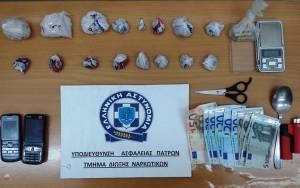 Συνελήφθη αλλοδαπός στις Καμάρες Αιγίου για εμπόριο ναρκωτικών