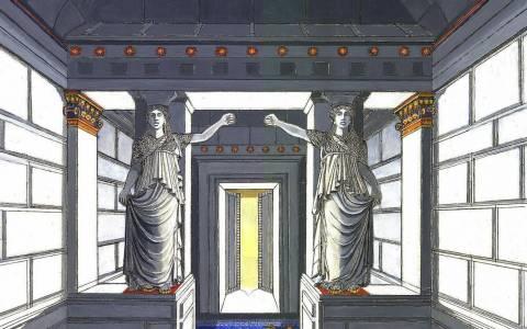 Αμφίπολη - Έτσι ήταν η πύλη των Καρυάτιδων με χρώμα (Photo)