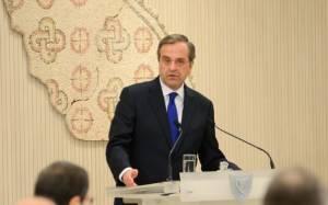 Σαμαράς: «Ισχυρή ομπρέλα» η συνεργασία Αθήνας - Κύπρου