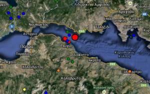 Ισχυρός σεισμός στο Αίγιο