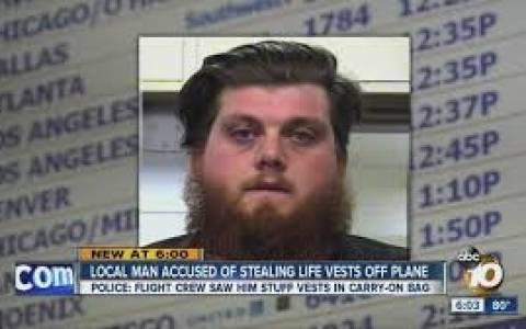 Καλιφόρνια: Συνελήφθη αφού έκλεψε σωσίβια από αεροσκάφος