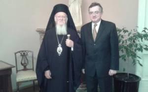Συνάντηση Γεροντόπουλου με τον Οικουμενικό Πατριάρχη