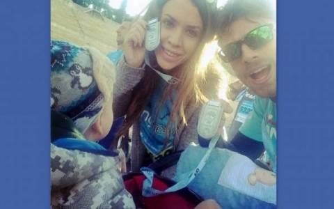 Μαραθώνιος 2014: Μανίκας-Γελεβεσάκη έτρεξαν με τον γιο τους