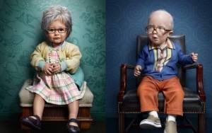 Νηπιάκια σε ρόλο …ηλικιωμένων! (εικόνες)