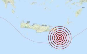 Σεισμός 4,2 Ρίχτερ νοτιοανατολικά της Κρήτης