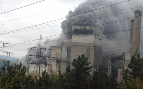 Τεράστιες ζημιές στον ΑΗΣ Πτολεμαΐδας από τη φωτιά