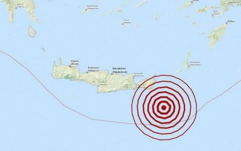 Light quake jolts Crete