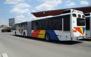 Φωτιά σε λεωφορείο του ΟΑΣΘ στο Πανόραμα