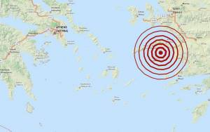 Σεισμός 3,3 Ρίχτερ νότια της Σάμου