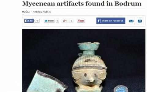Βρήκαν αντικείμενα από τη Μυκηναϊκή περίοδο στην Αλικαρνασσό