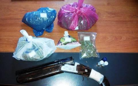 Τρεις συλλήψεις στις Σέρρες για ναρκωτικά και όπλα