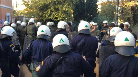 Tension outside the Athens Law School