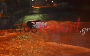Η Ρόδος μετατράπηκε σε… ποτάμι από τη βροχή