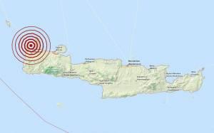 Σεισμός 3,3 Ρίχτερ δυτικά των Χανίων